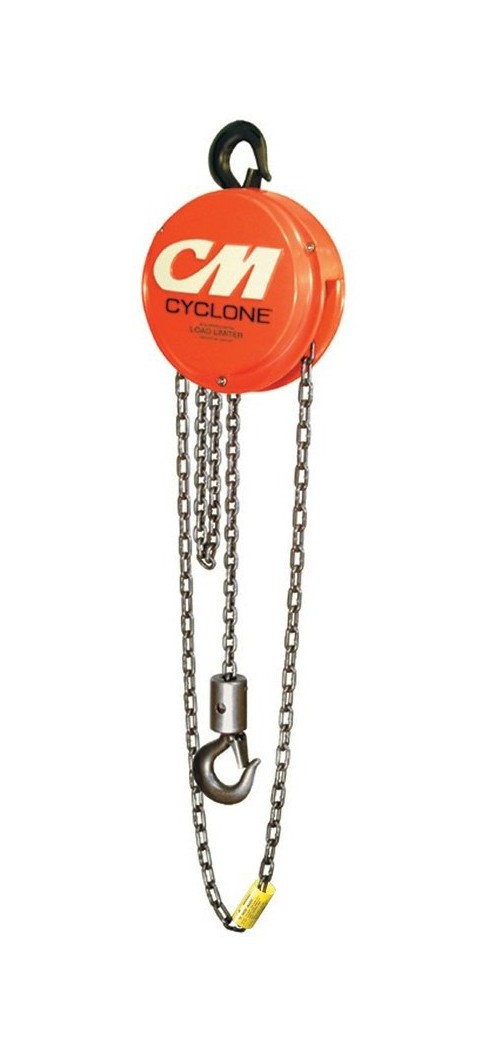 CM - CYCLONE 1 Ton Hoist (10' Lift)