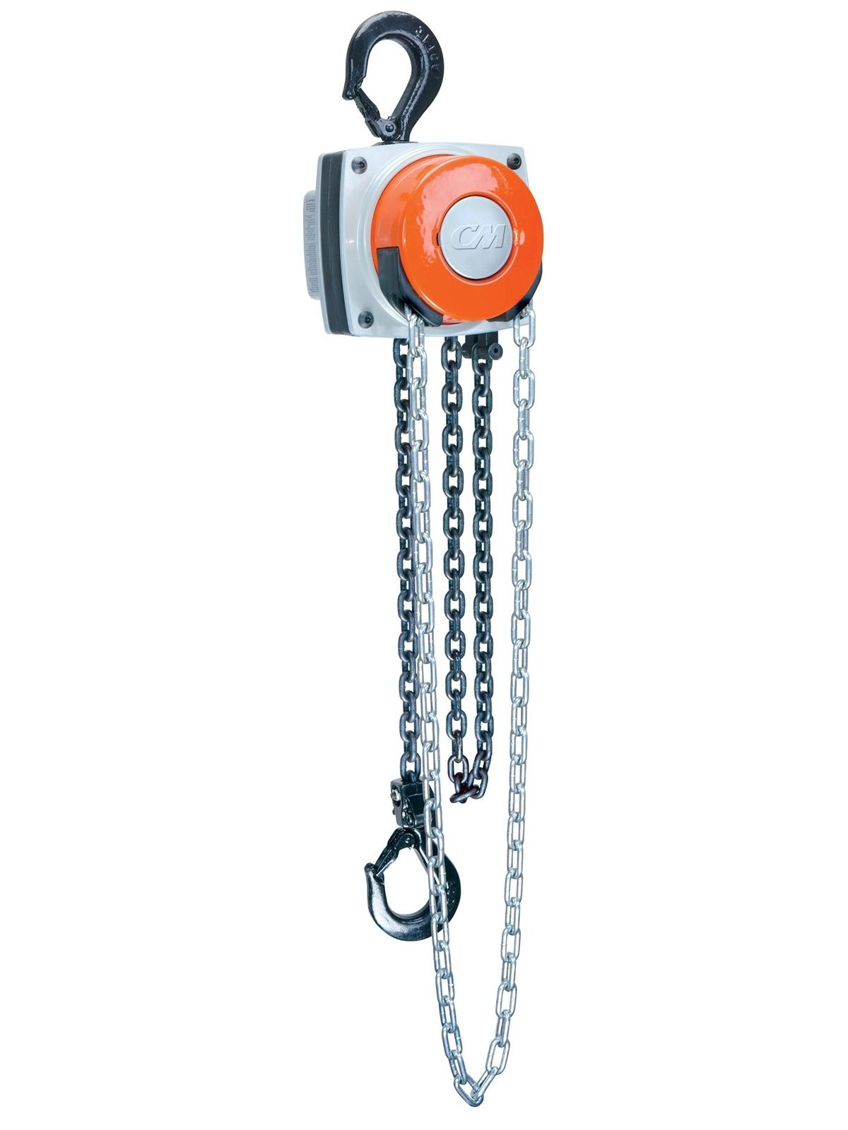 CM - HURRICANE 360 1/2 Ton Hand Chain Hoist 10' Lift 8' Handchain Drop