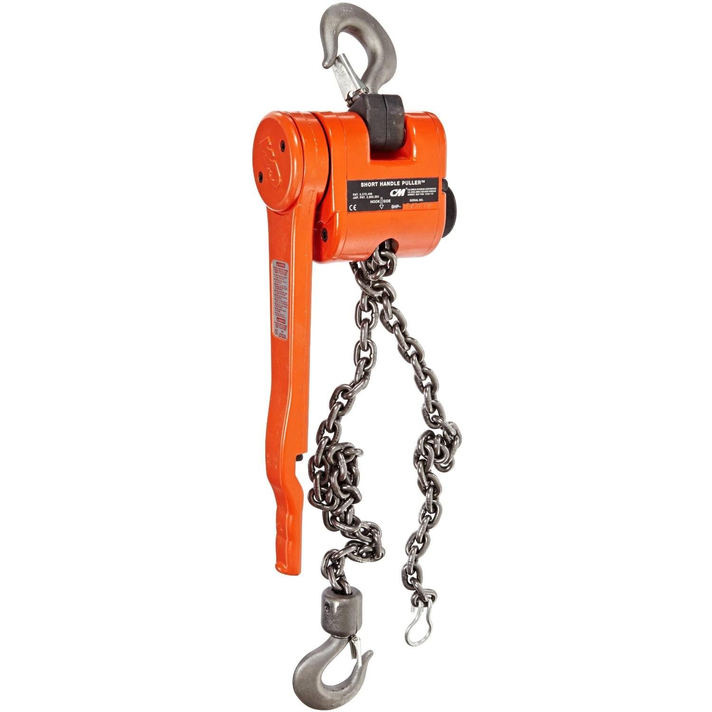 CM - Puller 3 Ton Lever Hoist w/Load Limiter (Less Chain / No Chain)